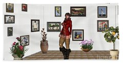 digital exhibition 32  posing  Girl 31  Beach Sheet