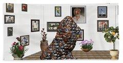 digital exhibition _Modern Statue of scrap Beach Sheet