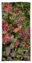 Beach Towel featuring the digital art Digital Garden V by Leo Symon