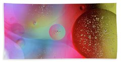 Beach Towel featuring the photograph Digital Oil Drop Abstract by John Williams