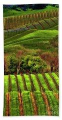 Enhanced Stunning Napa Valley Vineyards Vibrant  Beach Sheet