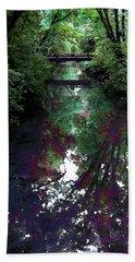 Digital Painting Hidden Woodland Stream 2864 Dp_2 Beach Sheet