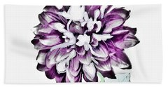 Digital Purple Mum Beach Towel