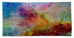 1a Abstract Expressionism Digital Painting Beach Towel
