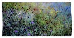 Digital Watercolor Field Of Wildflowers 4064 W_2 Beach Towel