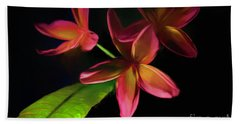 Digitized Sunset Plumerias #2 Beach Towel