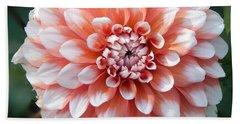 Dahlia Flower- Soft Pink Tones Beach Sheet