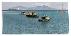 Beach Towel featuring the photograph Dili Harbour 01 by Werner Padarin