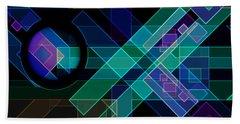 Beach Sheet featuring the digital art Dimensions 14 by Lynda Lehmann
