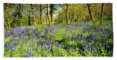 Dinefwr Bluebell Walk Beach Towel