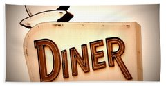 Beach Towel featuring the photograph Diner by Andrea Platt