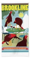 Dining En Plein Air Beach Towel