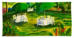 Dining In The Park Beach Towel