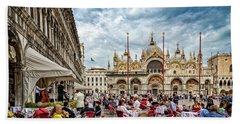 Dining On St. Mark's Square Beach Towel
