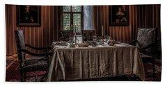 Dining Room In Castle Doorwerth Beach Towel