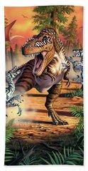 Dino Battle Beach Towel