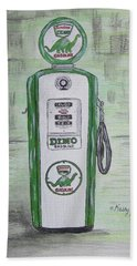 Dino Sinclair Gas Pump Beach Sheet by Kathy Marrs Chandler