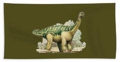 Dinosaur T-shirt Beach Sheet by Herb Strobino