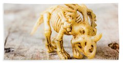 Dinosaurs At The Toy Museum  Beach Towel