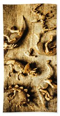 Dinosaurs In A Bone Display Beach Towel