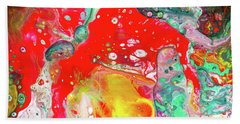 Dioniz - Colorful Modern Abstract Art Beach Towel by Modern Art Prints