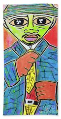 Dipped And Dapper Beach Towel