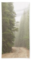 Beach Towel featuring the photograph Dirt Road Challenge Into The Mist by James BO Insogna