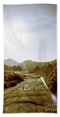 Dirt Roads Of Outback Tasmania Beach Towel
