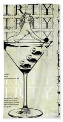 Dirty Dirty Martini Patent Beach Towel