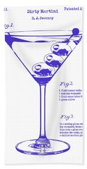 Dirty Martini Blueprint Beach Towel by Jon Neidert
