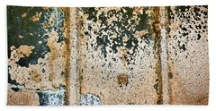 Beach Towel featuring the photograph Dirty Window Abstract by Stuart Litoff