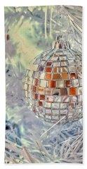 Disco Ball Tree Ornament Beach Towel