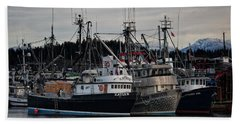 Beach Towel featuring the photograph Discovery Harbour by Randy Hall