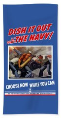 Dish It Out With The Navy Beach Towel