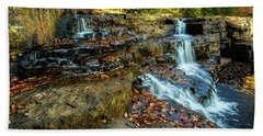 Dismal Creek Falls Horizontal Beach Towel