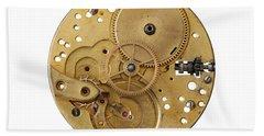 Beach Sheet featuring the photograph Dismantled Clockwork Mechanism by Michal Boubin