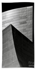 Disney Concert Hall Black And White Beach Sheet