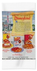 Beach Towel featuring the digital art Disneyland And Aunt Jemima Pancakes  by ReInVintaged