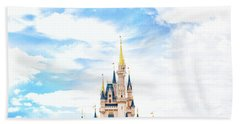 Disneyland Beach Towel by Happy Home Artistry