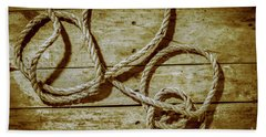Dispatched Ropes And Voyages Beach Towel