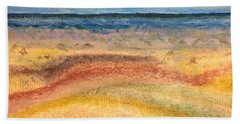 Beach Towel featuring the painting Distance by Norma Duch