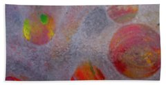 Beach Towel featuring the painting Distant Planets by Robert Margetts