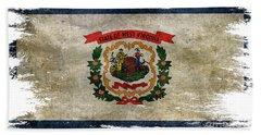 Distressed West Virginia Flag Beach Towel