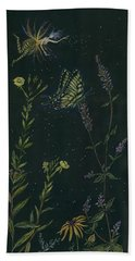 Beach Towel featuring the drawing Ditchweed Fairy Tiger Swallowtail by Dawn Fairies