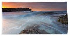 Divided Tides Beach Towel by Mike  Dawson