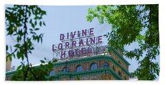 Divine Lorraine Hotel Restored - Philadelphia Beach Towel by Bill Cannon