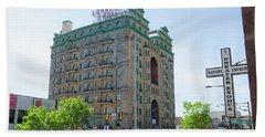 Divine Resurection - Divine Lorraine Hotel Philadelphia Beach Towel by Bill Cannon