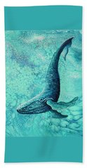 Beach Towel featuring the painting Diving Into Blue by Darice Machel McGuire