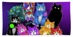 Dizzycats Beach Sheet by DC Langer