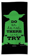Do Or Do Not There Is No Try. - Yoda Movie Minimalist Quotes Poster Beach Towel by Lab No 4 The Quotography Department